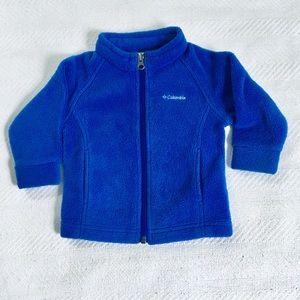 Columbia lavender zip up fleece size 3-6M